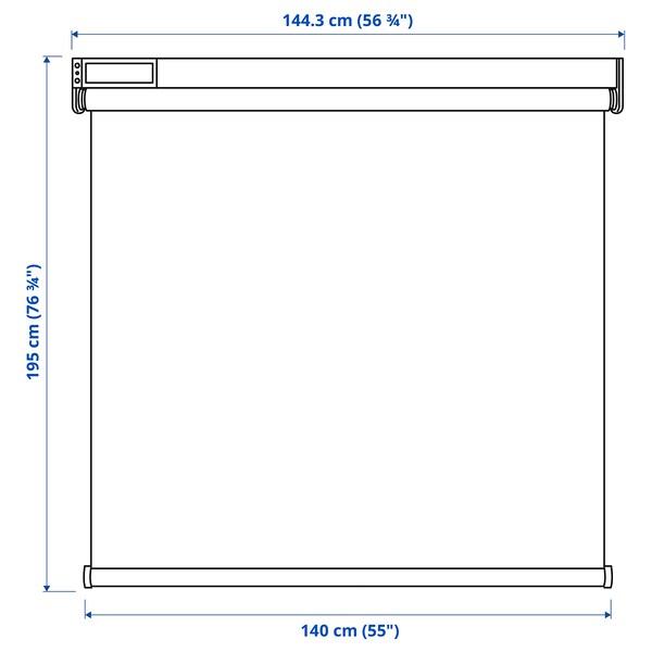 KADRILJ Estor, inalámbrico/a pilas gris, 140x195 cm