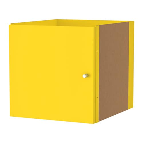 kallax accesorio con puerta amarillo ikea. Black Bedroom Furniture Sets. Home Design Ideas