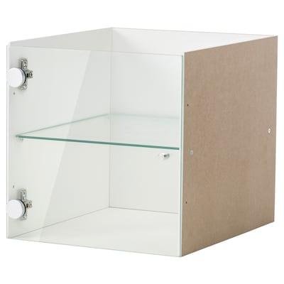 KALLAX Accesorio con puerta vidrio, blanco, 33x33 cm