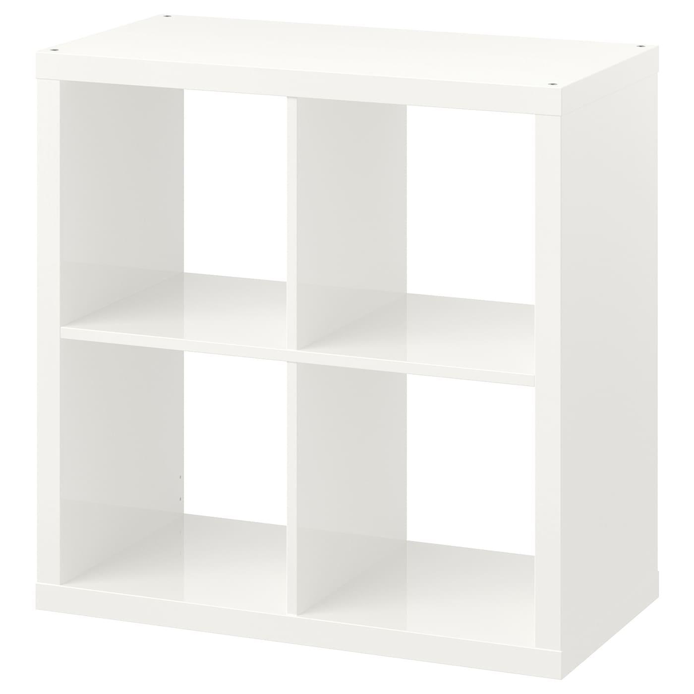 kallax estanter a alto brillo blanco 77 x 77 cm ikea. Black Bedroom Furniture Sets. Home Design Ideas