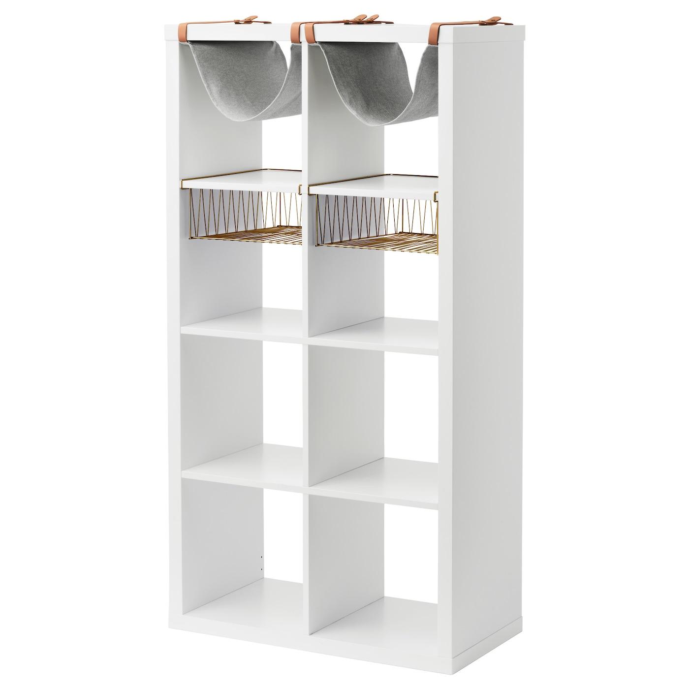Kallax Estanteria Con Accesorios Blanco 77 X 147 Cm Ikea