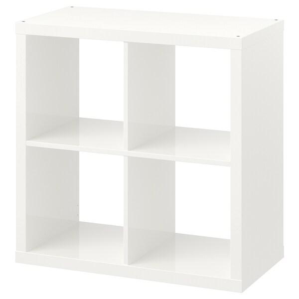 KALLAX Estantería, alto brillo blanco, 77x77 cm