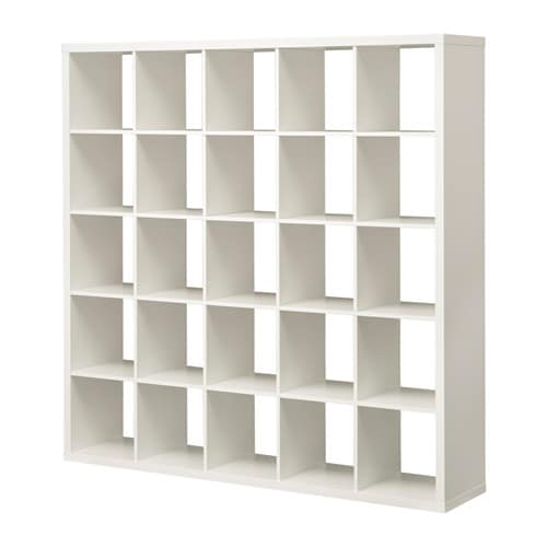 Kallax estanter a blanco ikea for Cajas de madera ikea