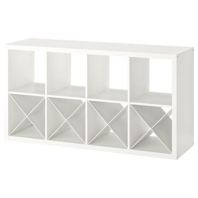 KALLAX Estantería con accesorios, blanco, 77x147 cm