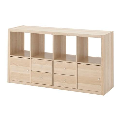 Kallax estanter a con accesorios ikea - Estanterias con ruedas ikea ...