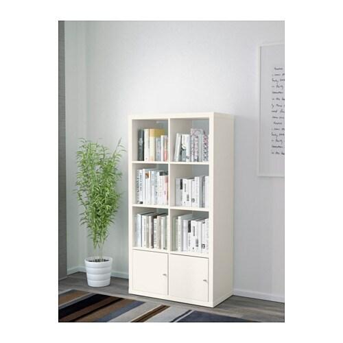 Kallax estanter a con puertas blanco 77x147 cm ikea for Estanterias con puertas ikea