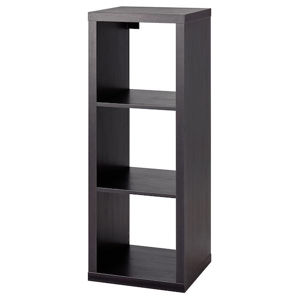 KALLAX Estantería, negro-marrón, 42x112 cm