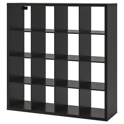 KALLAX Estantería, negro-marrón, 147x147 cm