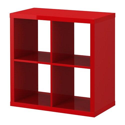 Kallax estanter a alto brillo rojo ikea - Estanteria kallax ...