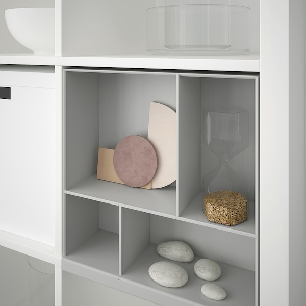 KALLAX estante adicional gris claro 33 cm 12 cm 35 cm