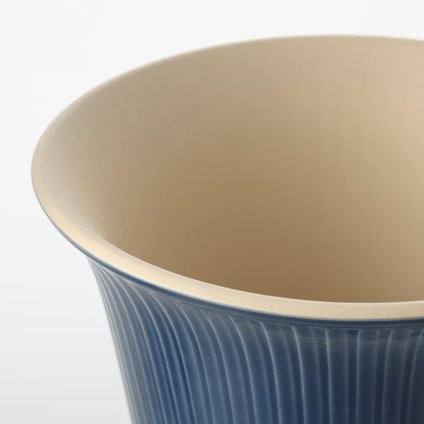 KAMOMILL Macetero, int/ext azul, 15 cm