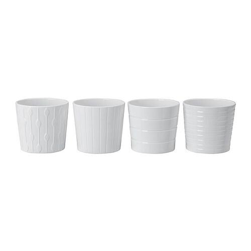 KARDEMUMMA Macetero, blanco, dibujos variados - Últimas unidades en IKEA L'Hospitalet