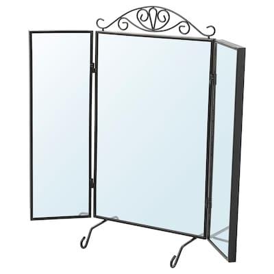 KARMSUND Espejo de mesa, negro, 80x74 cm
