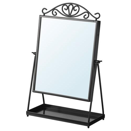 KARMSUND espejo de mesa negro 27 cm 43 cm