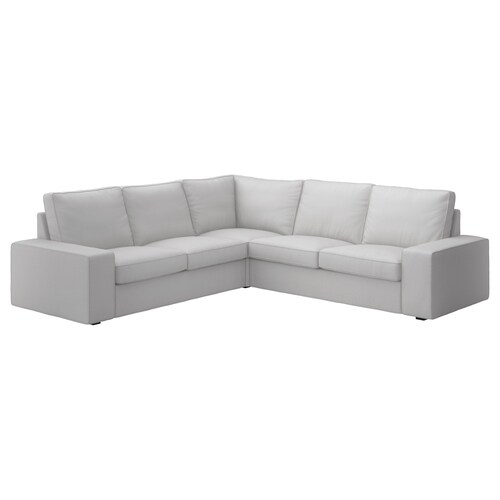 KIVIK sofá 4 plazas esquina Orrsta gris claro 95 cm 83 cm 257 cm 257 cm 60 cm 45 cm