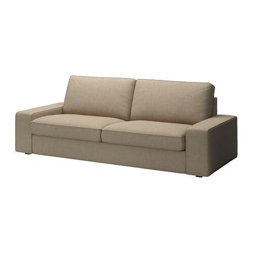 Kivik funda para sof de 3 plazas isunda beige ikea - Funda sofa kivik ...