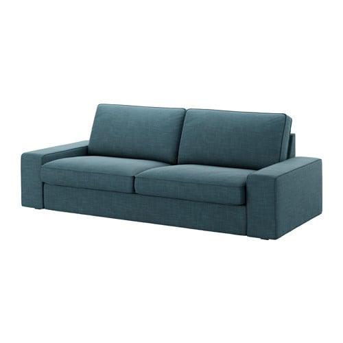Kivik funda para sof de 3 plazas hillared azul oscuro - Funda sofa 3 plazas ...