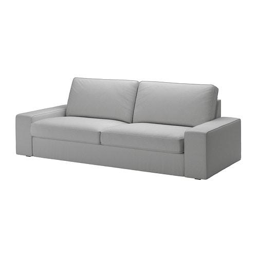 Kivik funda para sof de 3 plazas orrsta gris claro ikea - Funda sofa 3 plazas ...