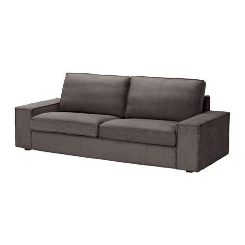 Kivik funda para sof de 3 plazas tullinge marr n gris ceo ikea - Funda sofa kivik ...