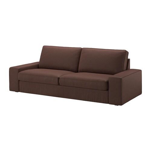 Kivik funda para sof de 3 plazas borred marr n oscuro - Fundas de sofa de ikea ...