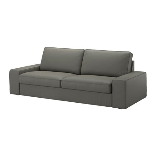 Kivik funda para sof de 3 plazas borred verde gris ceo for Sofa kivik 3 plazas
