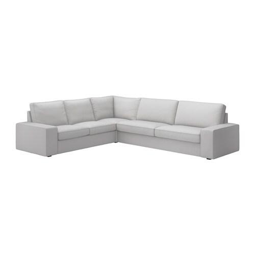 Kivik sof esquina 2 3 3 2 orrsta gris claro ikea - Sofas de esquina ...
