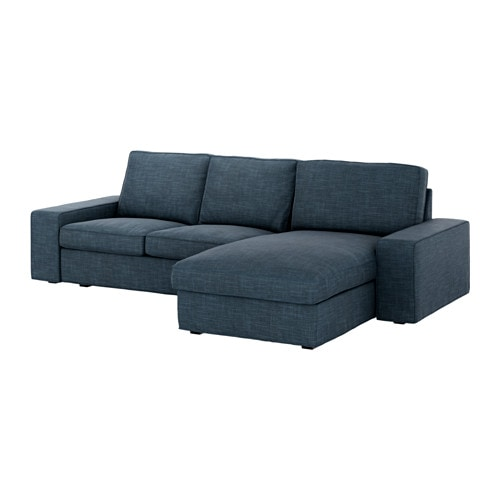 Kivik sof 3 plazas chaiselongue hillared azul oscuro for Sofa kivik 3 plazas