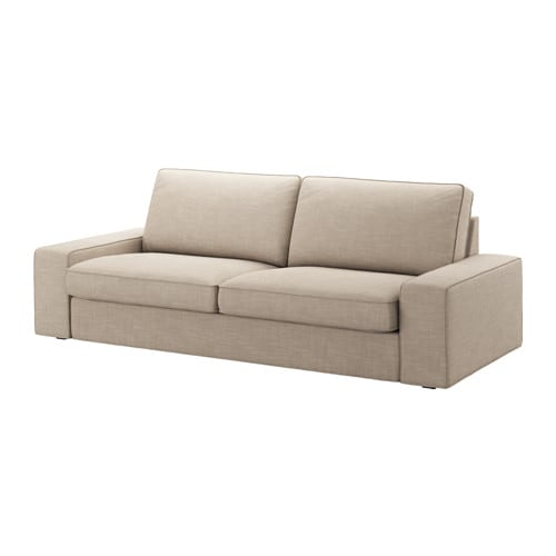 Kivik sof 3 plazas hillared beige ikea for Sofa kivik 3 plazas