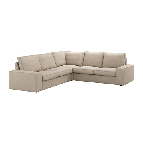 Kivik sof 4 plazas esquina hillared beige ikea for Sofa kivik 2 plazas
