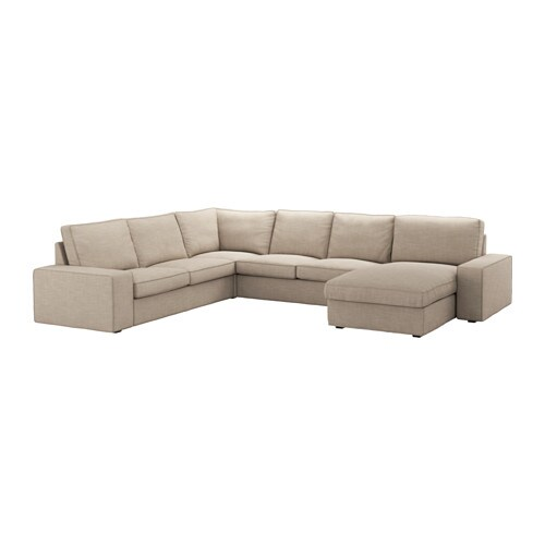 Kivik sof 5 plazas esquina chaiselongue hillared beige for Sofa kivik 2 plazas