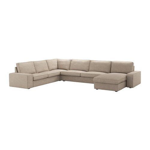 Kivik sof 5 plazas esquina chaiselongue hillared beige for Sofa kivik 3 plazas