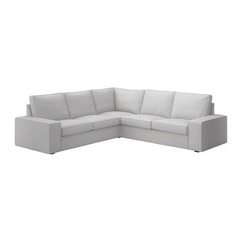 Kivik sof 4 plazas esquina orrsta gris claro ikea - Sofas de esquina ...