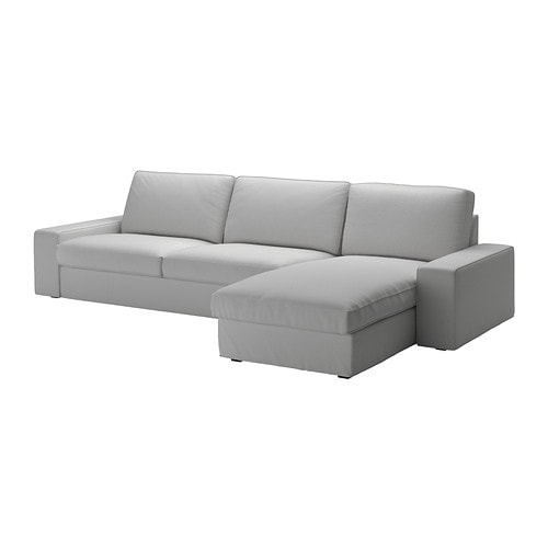 Kivik sof 4 plazas chaiselongue orrsta gris claro ikea for Sofa 4 plazas mas chaise longue