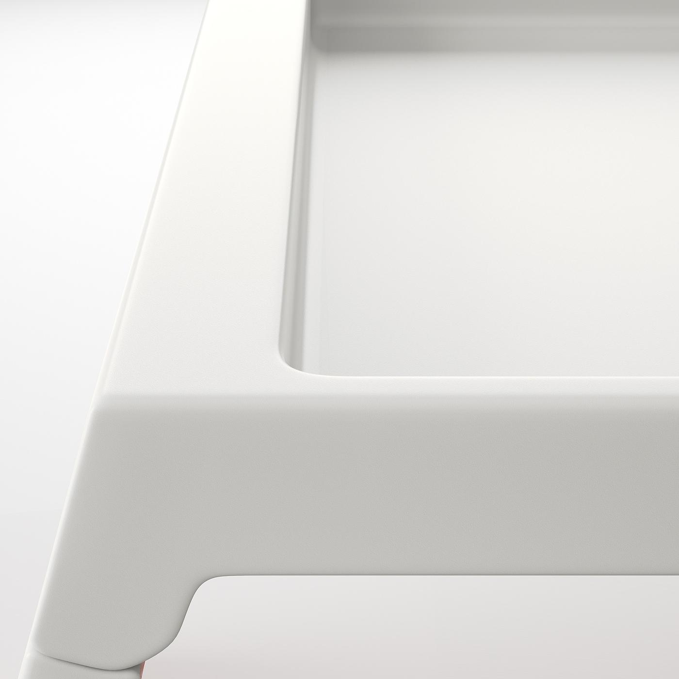 KLIPSK Bandeja de cama blanco
