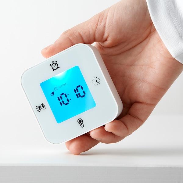 KLOCKIS Relojtermómetrodespertadortempor, blanco IKEA