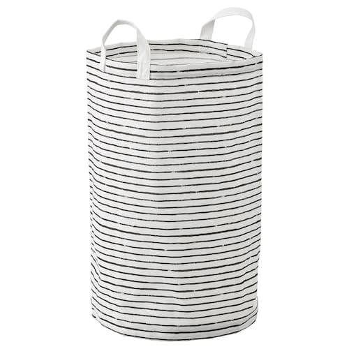 KLUNKA bolsa para ropa blanco/negro 60 cm 36 cm 60 l