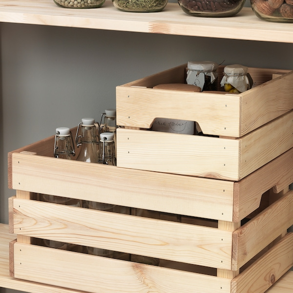 caja de madera blanca ikea