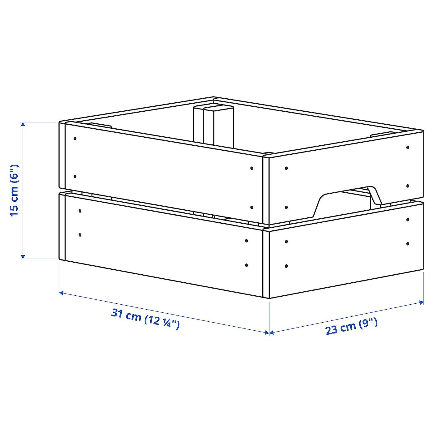 KNAGGLIG Cajón pino 23x31x15 cm