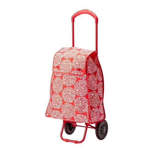 Knalla carrito de compra rojo blanco ikea - Carrito con ruedas ikea ...