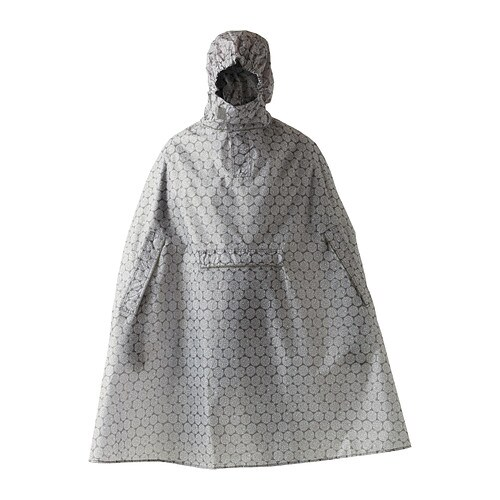 knalla poncho impermeable gris blanco ikea. Black Bedroom Furniture Sets. Home Design Ideas