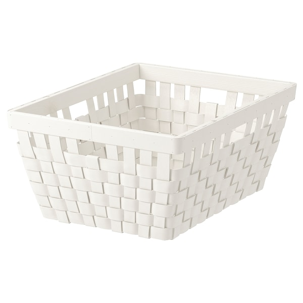 KNARRA Cesta, blanco, 38x29x16 cm