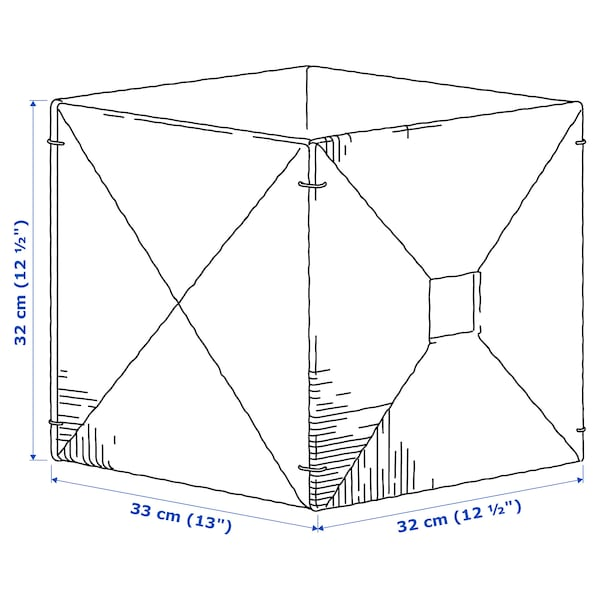 KNIPSA Cesta, junco marino, 32x33x32 cm