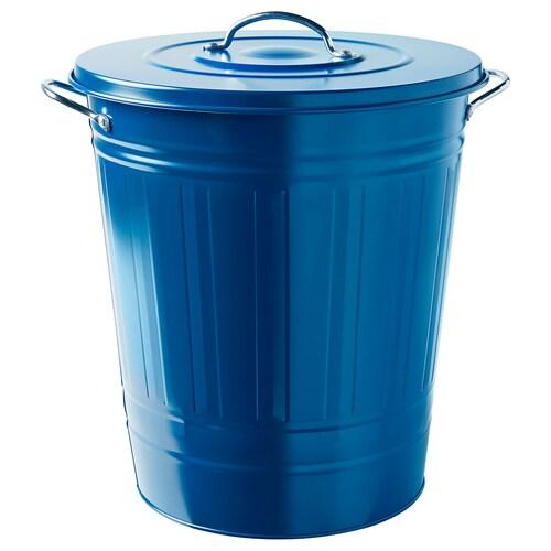 KNODD cubo con tapa azul oscuro 51 cm 41 cm 40 l