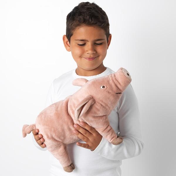 KNORRIG Peluche, cerdo/rosa