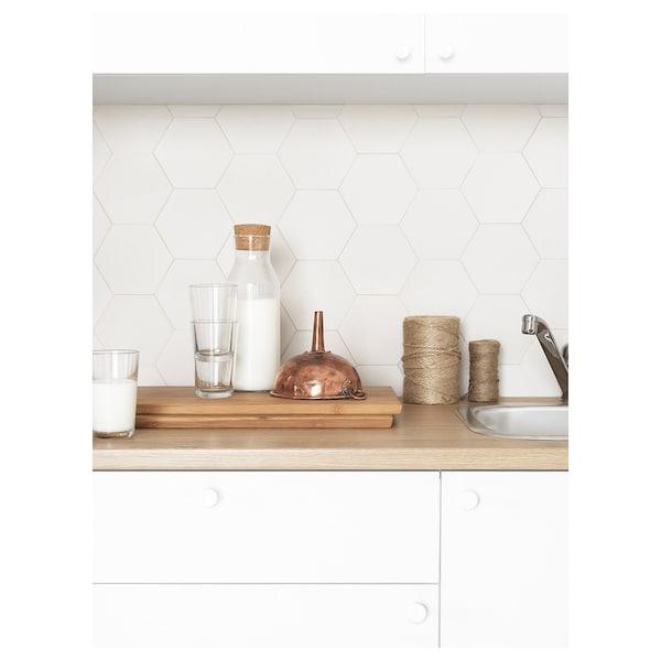 KNOXHULT Armario bajo con puertas y cajón, blanco, 180 cm