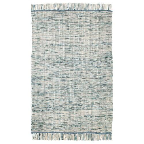 KÖPENHAMN alfombra a mano verde azulado 195 cm 133 cm 2.59 m² 2400 g/m²