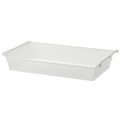 KOMPLEMENT Cesto metal&riel extraíble, blanco, 100x58 cm