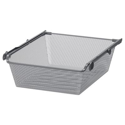 KOMPLEMENT Cesto rejilla&riel extraible, gris oscuro, 50x58 cm
