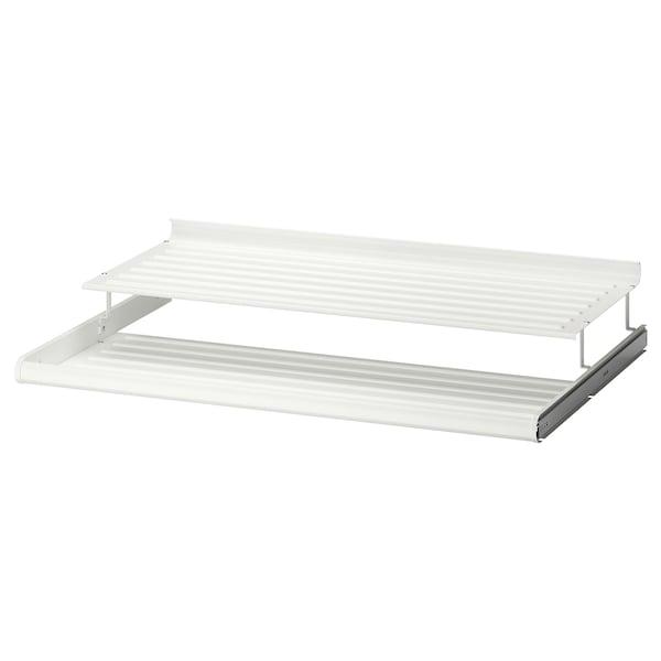 KOMPLEMENT Estante zapatero extraíble, blanco, 100x58 cm