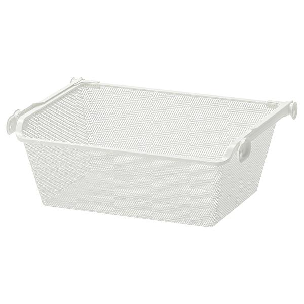 KOMPLEMENT cesto rejilla&riel extraible blanco 46.1 cm 50 cm 33.5 cm 16 cm 35 cm 15 kg